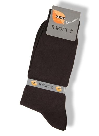 Miorre Desenli Modal Erkek Çorap Kahve